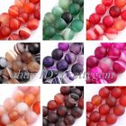 "8MM FROST ROUND AGATE LOOSE JEWELRY GEMSTONE BEADS STRAND 15"",SELECT BY COLOR"