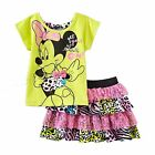 New Girl Disney Minnie Mouse T Shirt Skirt Set Outfit Toddler Size  3T 4T