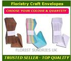 FLORIST GREETING CARD CRAFT ENVELOPES BROWN WHITE or MULTI COLOURED 11cm x 7cm