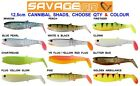 SAVAGE GEAR 12.5cm CANNIBAL 4PLAY SHADS SEA COARSE FISHING SPINNING ROD LURES