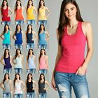 Women's Racerback COTTON Tank Top Soft Stretchy Basic Sleeve