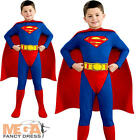 Superman Kids Fancy Dress Boys Superhero Childrens Child Comic Book Costume