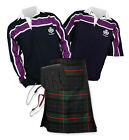 8yd Kilt Outfit 'Sports Essential' - Purple Stripe Rugby Top - Gunn