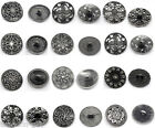 Silver Tone Sewing Metal Buttons M0334