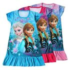 Frozen Princess Elsa & Anna Girls Pajama Night Gown Shirt Dress Kids Sleepwear
