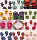 20pcs Man-made Turquoise Skull Spacer Loose Beads For Bracelet 10/12mm,11 color