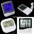 Temperature Humidity Meter Gauge Clock Alarm Digital LCD  Thermometer Hygrometer