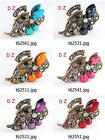 t625m52 Fashion Crystal Rhinestone Butterfly Crab Hair Clamp Claws Clip Hairpin