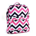 Women Chevron Print Quilted Classic Backpack School & Day Striped Bag for Girl