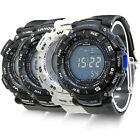 Fashion Unisex Men Women Digital Alarm Chronograph LED Sport Wrist Quartz Watch