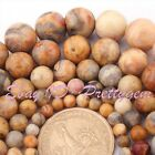 4-12mm Natural Smooth Round Multicolor Crazy Lace Agate Gemstone Loose Beads 15""