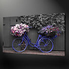 FLOWER BICYCLE ABSTRACT PREMIUM CANVAS PRINT PICTURE WALL ART DESIGN FREE UK P&P