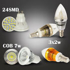 6w 1X 10X E14 Dimmable LED Candel Light Lamp Bulb & GU10  4w SMD  7w Spotlight