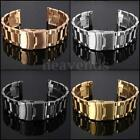 22mm Heavy Brushed Double Lock Clasp Stainless Steel Watch Band Bracelet Strap