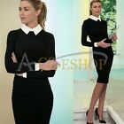 Womens Casual Slimming Bodycon Formal Business Party Cocktail Pencil Midi Dress