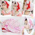Cute Kids Toddlers Baby Girls Sunhat Cap Bow Polka Dots Bowknot Hat Top