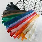 """10Pcs Approx 8""""-9"""" 11 Colors Nylon Zippers Coil Closed Cloth Tailor Sewing Craft"""