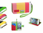 Apple iPhone 5 5s SE +PryTool Bundle Leather Wallet Pouch Case Cover Colorful