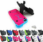 for Apple iPhone 5 5S Bolt Rugged Dual Layer Phone Case Cover & Holster+PryTool