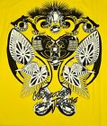 T-shirt Gianni Versace Jeans Men Made in Italy T-shirt Mens Jersey Cotton Yellow
