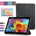 "Folio Slim Shell Case Stand Cover For Samsung Galaxy Tab 4 10.1"" SM-T530NU+LCD"