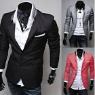 KDQ1MEN'S STAND-UP COLLAR LONG-SLEEVED SINGLE-BREASTED SUIT JACKET MF-4308