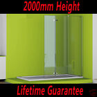 Shower Enclosure Walk In Tall Wet Room Pivot Cubicle Glass Screen Stone Tray V20