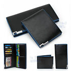 Blue Edge Men's Quality Genuine leather Wallet purse Credit Card Holder Bifold