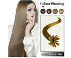 "Top Stylish 16""-26""100s U/Nail Keratin Tip Real Human Hair Extensions #1 to #8"