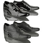 MENS CASUAL FORMAL LACE UP BLACK PATENT WORK OFFICE SMART PARTY SHOES BOOTS SIZE