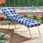 Replacement Garden Lounger Luxury Cushion - Choice of Colours