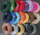Wholesale 3 M Real Leather Necklace Charms Rope String Cord 1.5/2.0 mm Any Color