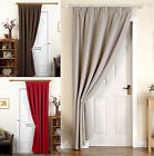 Thick Heavy Door Curtains - Ready Made Thermal Lined 66 X 84 Door Curtain Panel
