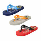 CHILDRENS FLIP FLOPS SAMOA KIDS CAT DESIGN IN 3 COLOURS - RED/GREY/BLUE