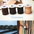 "10 Meter 1/8"" Handmade Woven Leather Lacing Straps for DIY Leathercraft 4 Colors"