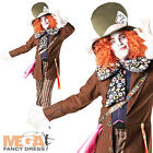 Mad Hatter Alice In Wonderland Mens Fancy Dress Adult Disney Book Costume Outfit