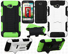 LG Optimus L70 Armor HYBRID KICKSTAND Rubber Case Cover Accessory + Screen Guard