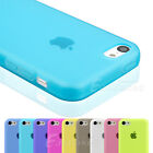 New Soft Matte TPU Silicone Gel Case Cover For Apple iPhone 5C Dust-Free Plug