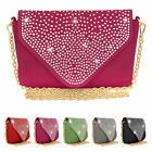 Fashion Diamante Party Prom Bridal Evening Clutch Hand Bag Purse Handbag Ladies