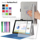 Folio Stand PU Leather Case Cover Skin For Windows Microsoft Surface PRO 3 12""