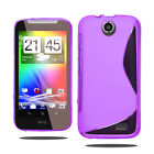 S Line Wave Silicone Gel Case Phone Cover For HTC Desire 310 + Screen Protector