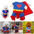 AU StockPet Cat Dog Coat Jacket Puppy Cotton Clothes Costume Superman Suit XS-XL