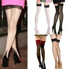 Women Heal Seamed Thigh High Stocking Pantyhose Tights Leggings Hosiery 4 Color