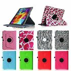 Pattern Rotating Leather Stand Cover Case For Samsung Galaxy Tab 4 10.1 SM-T530