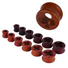 Hollow Clubs Cutout Wood Tunnel Ear Plug Gauge Expender 10-20mm