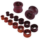 1pc Hollow Peace Sign Wood Ear Tunnel Plug Gauge Expender 10-20mm