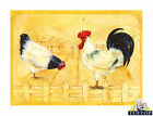 Glass Chopping Board Gallo Rooster Farm Animals Kitchen Worktop Saver 3 Sizes