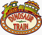 "6-9"" DINOSAUR TRAIN BUDDY LOGO WALL STICKER GLOSSY BORDER CHARACTER CUT OUT"