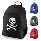 Skull and Crossbones Skeleton Pirate School Work Backpack Rucksack Bag NEW