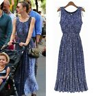 Summer Women Celeb Sleeveless Casual Floral Evening Cocktail Party Long Dress